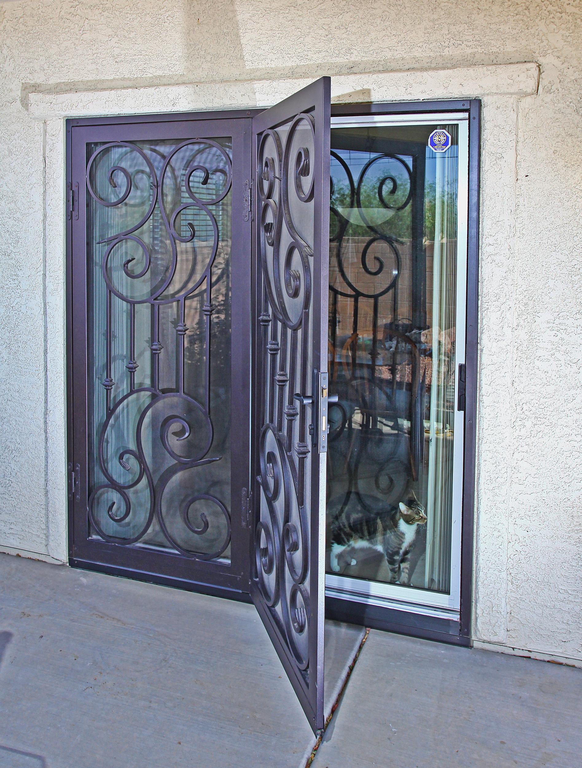 Arcadia Security Door & Security Door Terminology | Anatomy of a Security Door | Iron Entry ...
