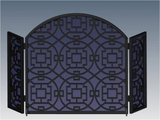 Custom Arched Fireplace Screen