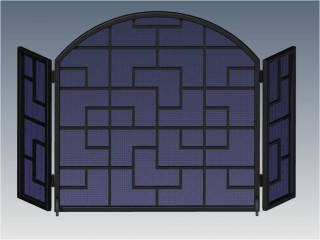Geometric Arched Fireplace Screen