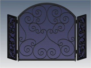 Napa Arched Fireplace Screen